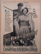 This Woman is Dangerous (1952) - Joan Crawford - Vintage Trade Ad